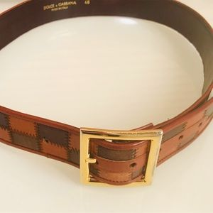 Dolce And Gabbana Vintage Brown Leather Belt XS/S